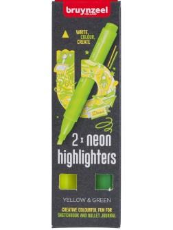 Neonévé Zvýrazňovače - sada 2 barvy