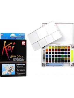 Akvarelové barvy Koi® do plenéru 48